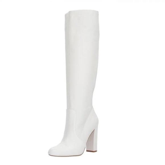 76adb93707e 🎉6hr sale🎉 Steve Madden eton white leather boots